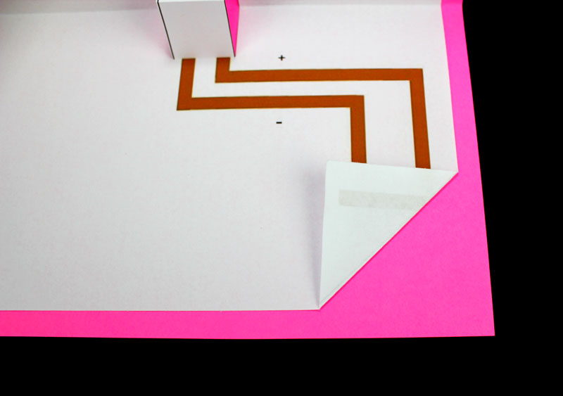 mothers day makerspace pop up card folded corner