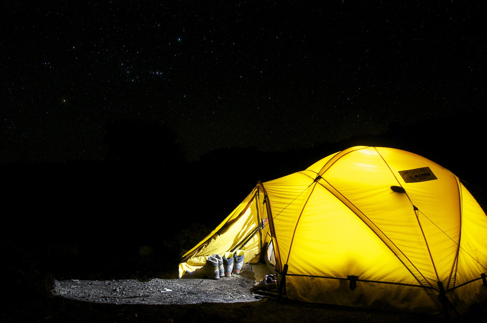 Have a fun and free night camping in a tent in your back garden