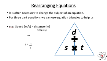 Rearranging equations, maths for GCSE science.