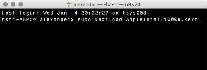 kextload-Befehl