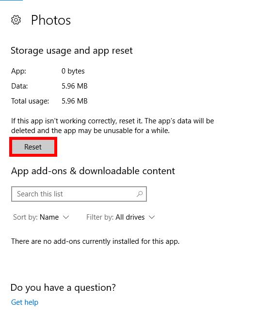 fotos-app-funktioniert nicht-fix-reset
