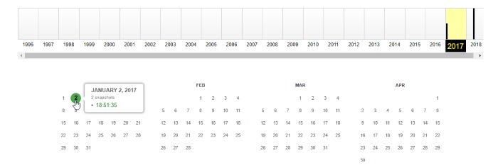 Website-Datumskalender