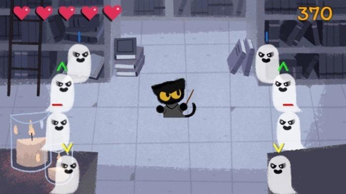 Versteckte Google Games Magic Cat Academy