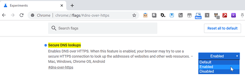 Dns Over Https Enable Chrome