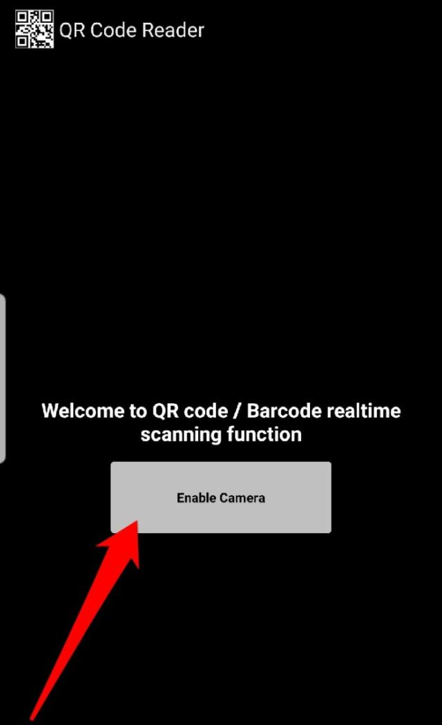 Read Qr Code Android Qr Code Reader Enable Camera