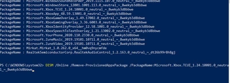 Bloatware entfernen Windows Appxpackage löschen