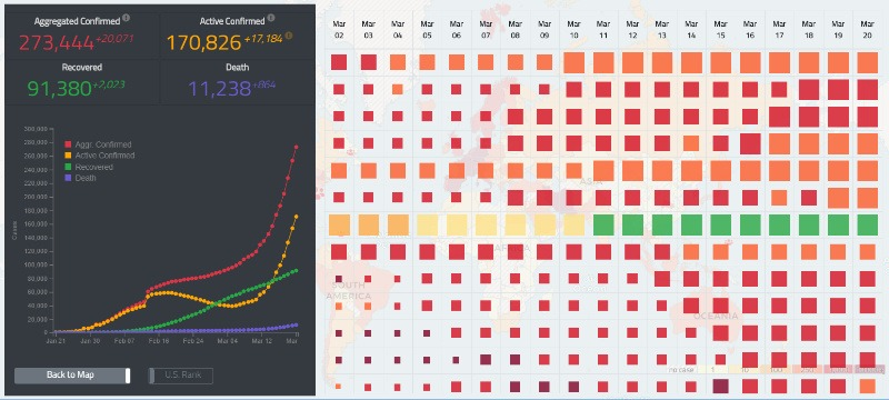 Covid 19 Tracking Hgis University Washington Heatmap