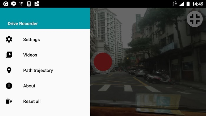 Dashboard Android Drive Recorder 1