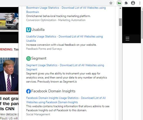 Chrome Web Builtwith 1