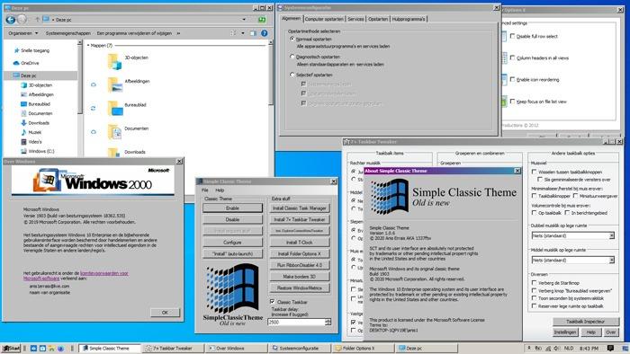 Beste Windows 10-Designs Winclassic