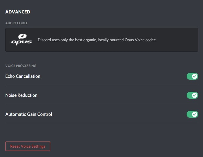 Discord Audio Codecs