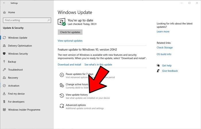 Startmenüsuche funktioniert nicht Rollback Update Windows 10