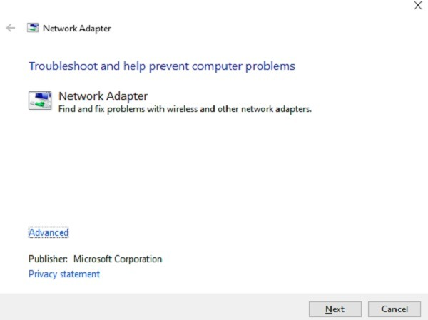 Anzeigen von Netzwerkadapterdetails in Windows 10 Probleme