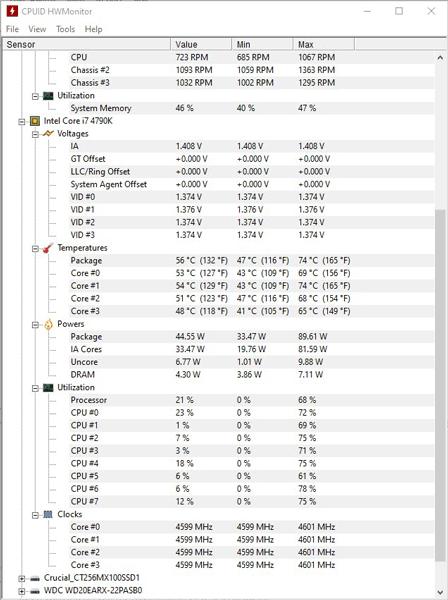 CPU-Temperatur überwachen Hwmonitor 1