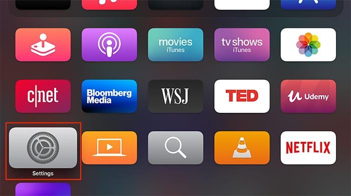 Einrichten von Heimkino-Audio Apple Tv Homepod Tvos-Startbildschirm