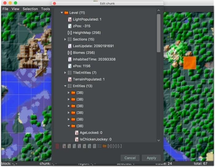 Linux Minecraft Editor Mca Selector