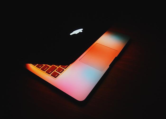 Macbook Pros Touch Bar geschlossen