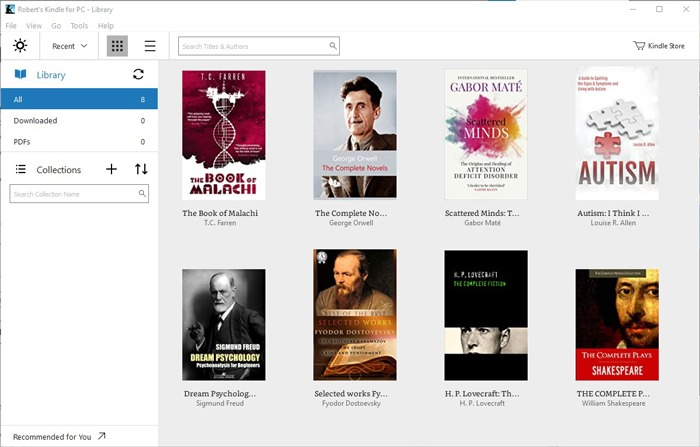 Beste E-Book-Reader Windows 10 Kindle für PC