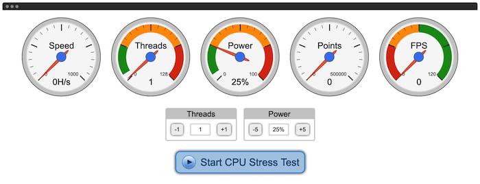 Computer aktualisiert Stresstest