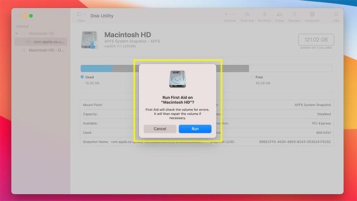 Festplattenberechtigungen Macos Erste Eingabeaufforderung