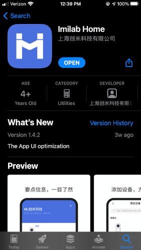 Imilab C20 App Store-Seite überprüfen