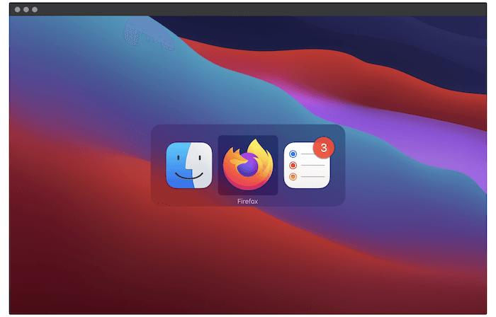 Der macOS App Switcher.