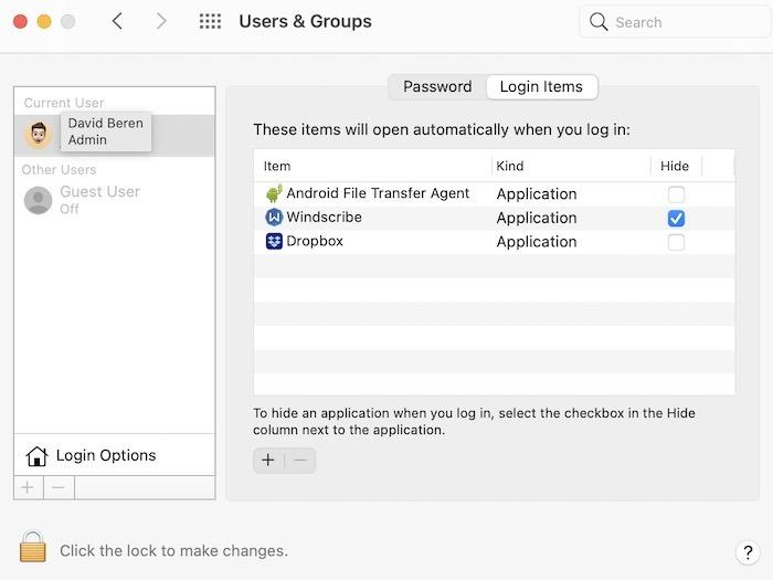 Mac läuft langsam Fix Deaktivieren Sie Anmeldeelemente