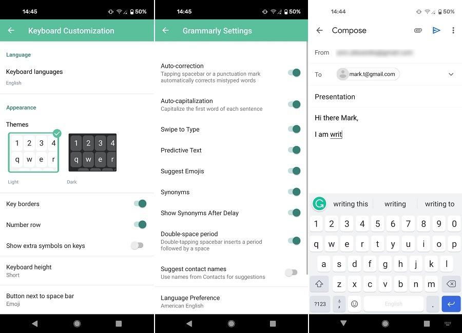 Beste Gboard-Alternativen Android Grammatik Tastatur
