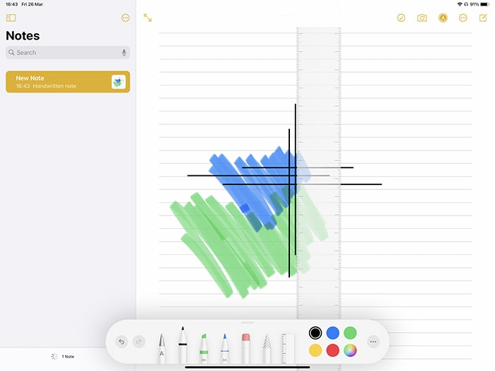 Markup Ipad Tool Palette In der Notes App