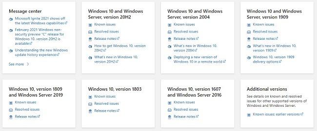 Fehlerbehebung bei Installationsproblemen mit Windows 10 Update Release Health