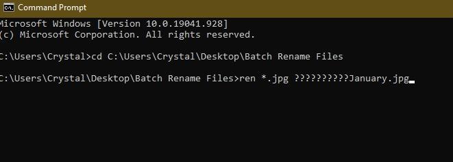 3 Möglichkeiten zum Batch-Umbenennen von Dateien in Windows Explorer Cmd Cd-Dateinamen