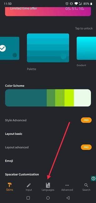 So deaktivieren Sie die automatische Korrektur von Android Chrooma-Sprachen