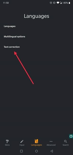 So deaktivieren Sie die automatische Korrektur der Android Chrooma-Textkorrektur