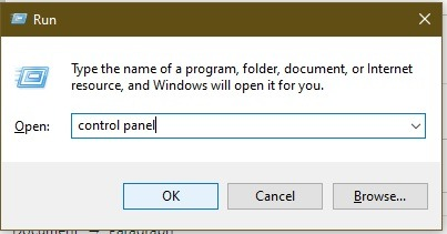 Möglichkeiten zum Öffnen der Systemsteuerung In Windows 10 Ausführen