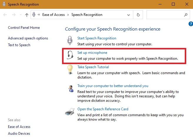 Externes Mikrofon Windows-Spracherkennung Mikrofon einrichten
