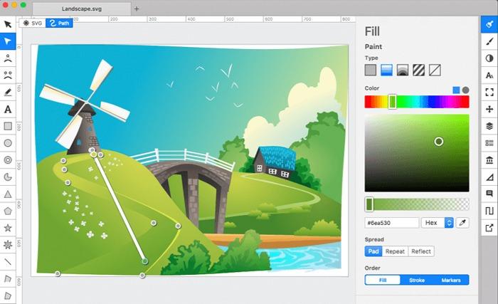 Kostenlose Grafik-Editor-Software Boxy Svg