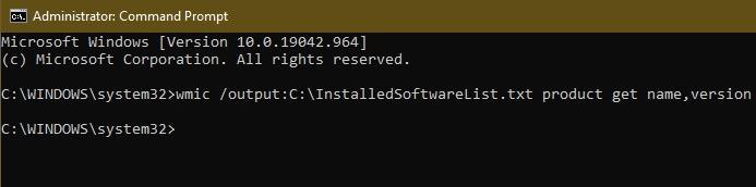 So erhalten Sie eine Liste aller auf einem Windows-System installierten Software Cmd
