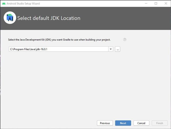 Installieren Sie Android Studio SDk Windows 10 Java-Installation