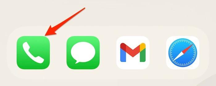 Ausgehende Iphone-Nachrichtentelefon-App