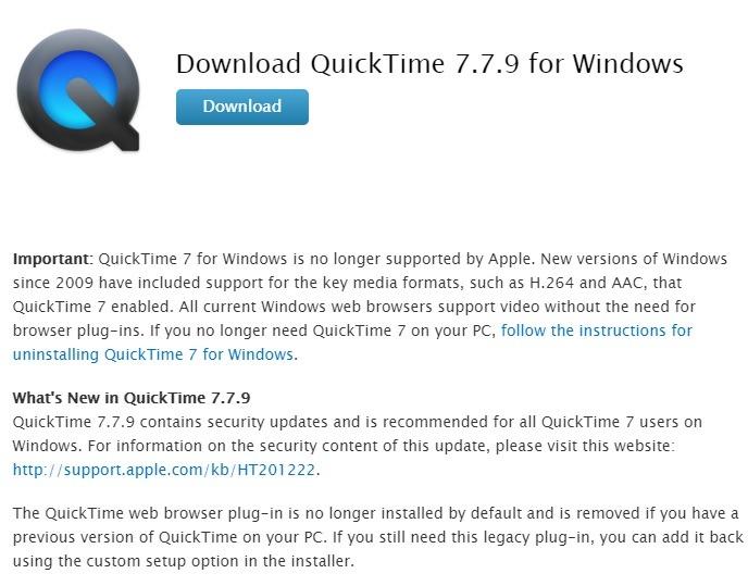Windows sofort deinstallieren Quicktime