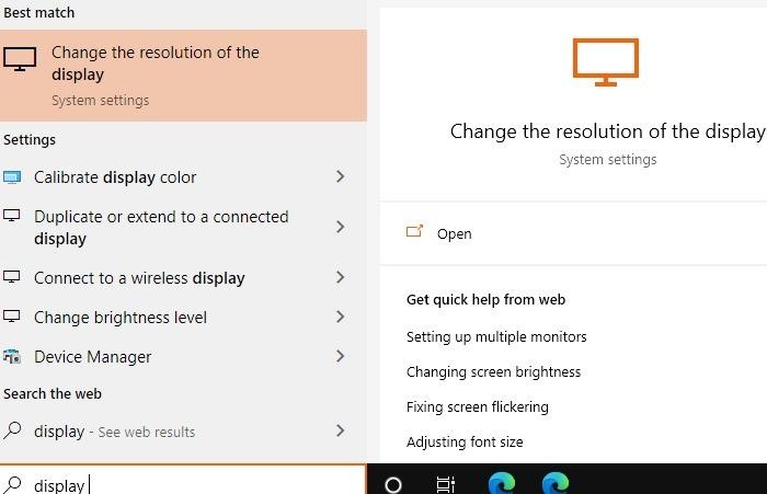 Windows11-Kompatibilität Anzeigeauflösung