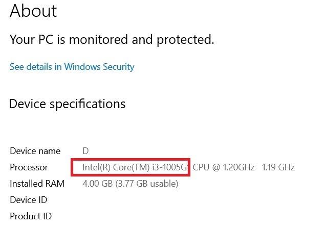 Details zum Windows11-Kompatibilitätsprozessor