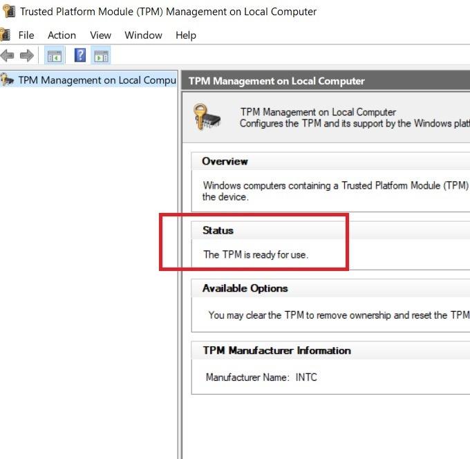Windows11-Kompatibilität Tpm einsatzbereit