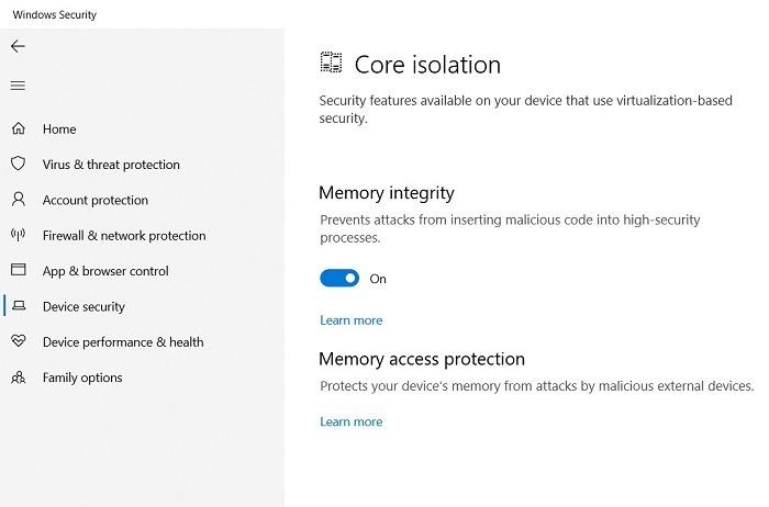 Windows11-Kompatibilität Vbs-Speicherintegrität Ein