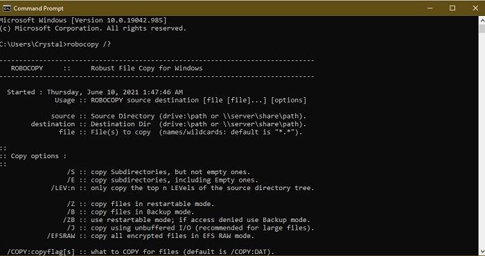 Einfache Möglichkeiten zum schnellen Kopieren einer großen Anzahl von Dateien in Windows Robocopy