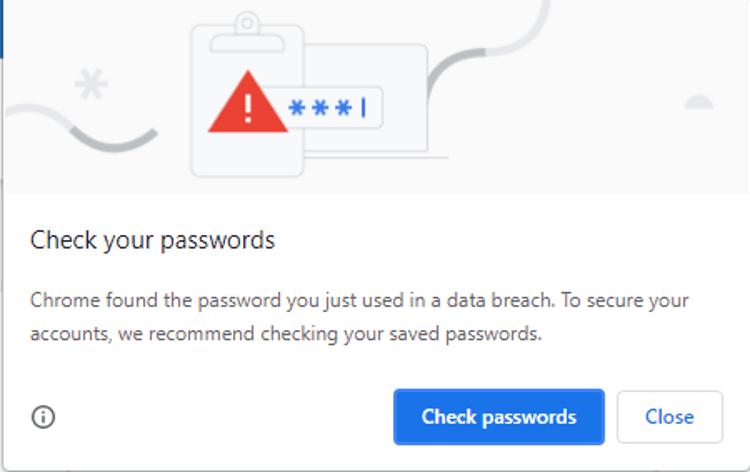 Chrome Password Breach Password Checkup Klicken Sie auf Passwörter überprüfen 3