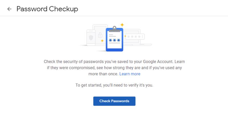 Chrome Password Breach Password Checkup Page Cick Check Passwords 4