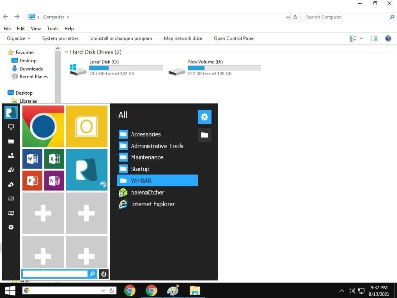 Windows10 Theme Windows7 Transformation Startmenü