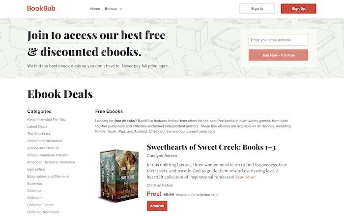Kostenlose Websites E-Books herunterladen Bookbub