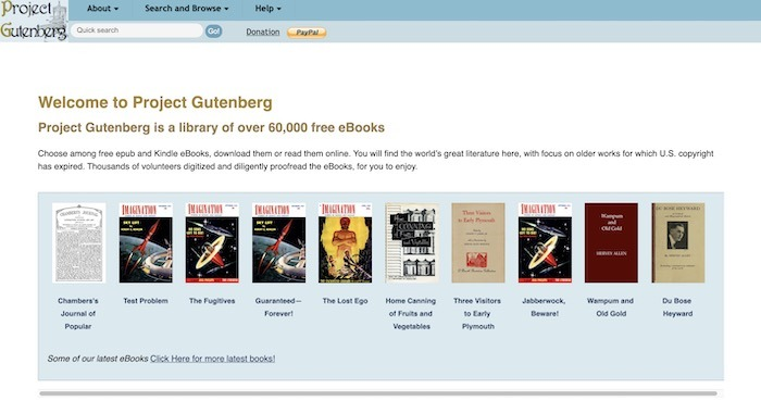 Kostenlose Websites E-Books herunterladen Gutenberg